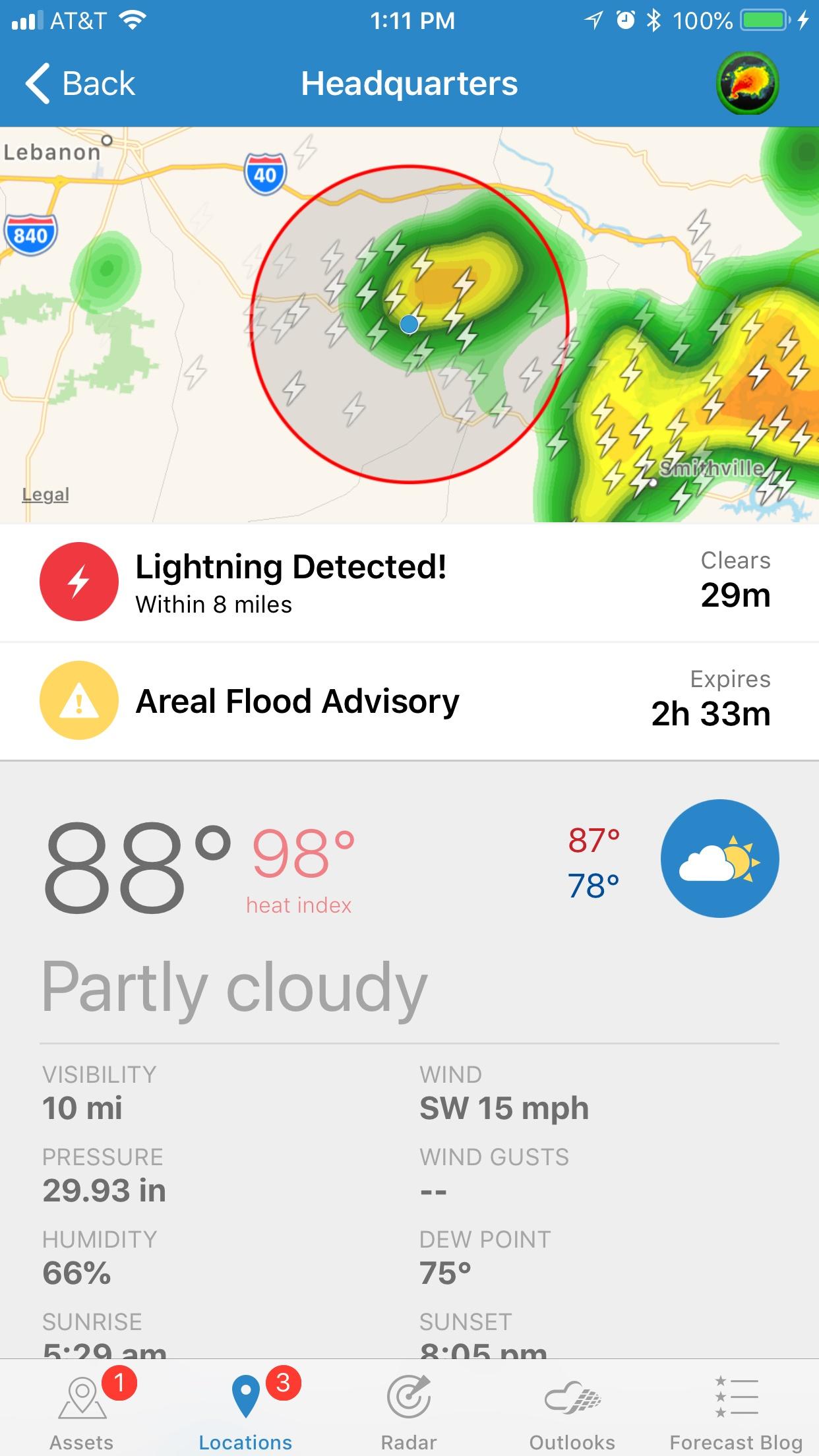 Lightning alert