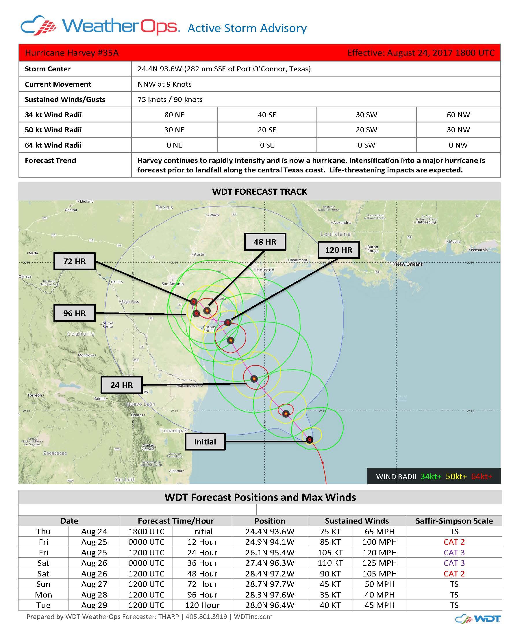 Active Storm Advisory - Tropical Storm Harvey #35A_Page_1